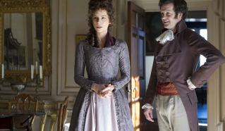 """This image released by Roadside Attractions shows Kate Beckinsale, left, and Tom Bennett in a scene from the film, """"Love & Friendship."""" (Bernard Walsh/Roadside Attractions via AP)"""